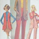 Simplicity 8917 vintage 1970 sewing pattern long vest mini skirt size 10 UNCUT