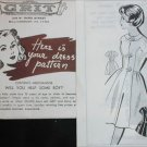 Vintage 1966 Patt O Rama Grit mail in dress sewing pattern size 16 UNCUT