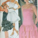 McCall 8608 sewing pattern sun dress ruffled bottom size 8 UNCUT