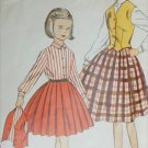 Simplicity 4789 vintage 1954 sewing pattern girl skirt blouse vest size 8 UNCUT