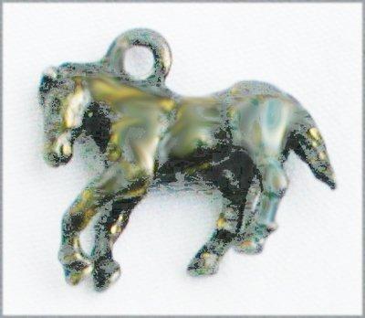 Silver horse mini 3/4 inch long charm bracelet size
