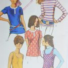 Simplicity 8834 vintage sewing pattern 1970 bouse tank top size 12 UNCUT