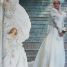 Simplicity 7429 sewing pattern bride bridal dress with train size 8 to 12