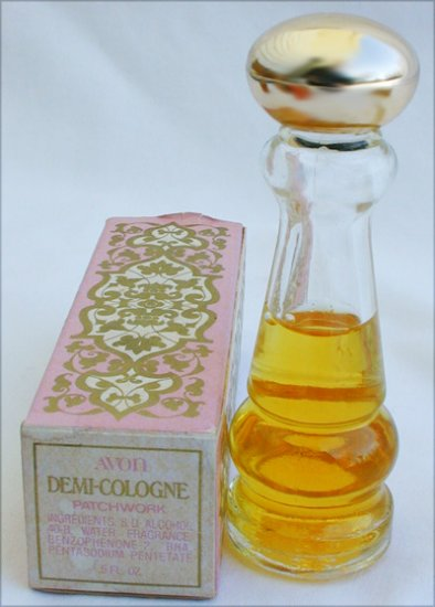 Avon Patchwork demi cologne bottle in box perfume