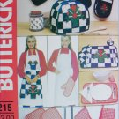 Butterick 215 sewing pattern kitchen accessories mitt apron toaster cover