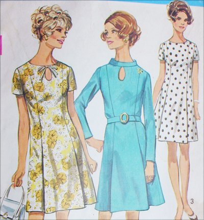 Simplicity 8192 vintage 1969 sewing pattern dress size 14 b36