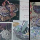 Craft leaflet Basket Case Leisure Art 1482 basket cloth lining directions and ideas