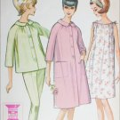 McCall 7291 vintage 1964 sewing pattern woman robe pajamas gown size 10 bust 31