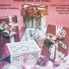Victorian Christmas Crochet craft booklet fans snowflakes boxes plus