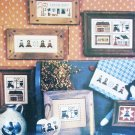 Cross stitch leaflet The Amish V miniatures 8 patterns Homespun Elegance