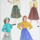 Simplicity 7243 sewing pattern set of girls skirts size 10 UNCUT