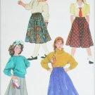 Simplicity 7243 sewing pattern set of girls skirts size 10 UNCUT