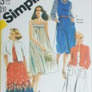 Simplicity 5515 sewing pattern sundress and jacket sizes 40 to 46 UNCUT
