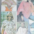 McCall 4865 vintage 1975 sewing pattern cloth shawl type and embroidery transfer