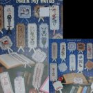 Cross stitch pattern booklet Mark My Words 35 bookmarks