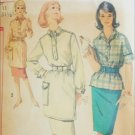 Simplicity 3259 vintage sewing pattern circa 1950s tunic skirt size 11 bust 31 1/2