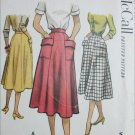 McCall 8494 vintage 1951 sewing pattern skirt size waist 24