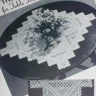 Hardanger cloth table centerpiece vintage pattern circa 1940s