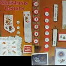 Cross stitch pattern book Christmas Counts tree skirt stocking Gloria and Pat