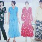Butterick 4875 sewing pattern dress top skirt pants size 20W, 22W, 24W UNCUT