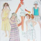 McCall 2043 sewing pattern girls dress and panties stretch knits sizes 10 12 14 UNCUT