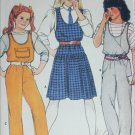 Butterick 6800 sewing pattern girls jumper and overalls sizes 7 8 10 UNCUT