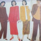 Butterick 5158 sewing pattern misses jacket top skirt pants sizes 20W 22W 24W UNCUT