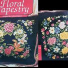Cross stitch pattern leaflet floral tapestry flower pillow designs