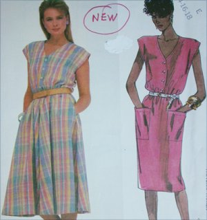 McCall 2025 sewing pattern misses sleeveless dress sizes 14 16 18 UNCUT