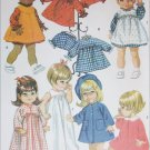 McCall sewing pattern vintage 1968 19 to 22 inch doll outfits uncut
