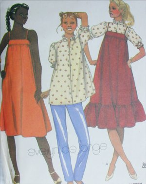 McCall sewing pattern 7468 maternity jumper sundress blouse pants size 16