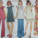 Simplicity 5756 vintage 1973 sewing pattern misses maternity dress tunic and top size 10