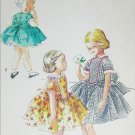 McCall 3347 vintage 1955 sewing pattern girls dress full skirt size 6