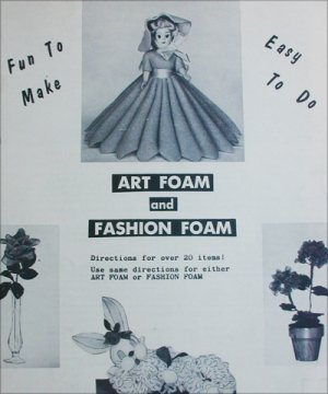 1958 vintage art foam craft booklet doll flowers and crafts