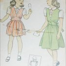 Vintage DuBarry sewing pattern 1943 classic girls jumper & blouse size 8 B26