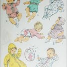 Simplicity 8761 sewing pattern 1970 baby layette size 6 months UNCUT
