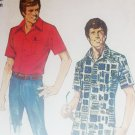 Simplicity 6368 vintage 1974 sewing pattern mans shirt size 42 to 44 UNCUT