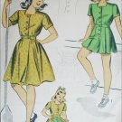 DuBarry vintage 1942 sewing pattern girls playsuit and skirt size 8