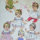 Simplicity 7970 vintage 1968 12 to 13 inch doll pattern outfits Betsy Wetsy and others