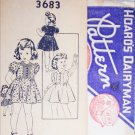 Hoard's Dairyman vintage 1940s sewing pattern girls dress size 2
