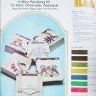 Khaki handbag craft kit paint embroider applique 6 designs