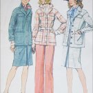Simplicity 6233 sewing pattern 1974 vintage jacket skirt pants size 18 B40