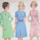 McCall 9735 vintage 1969 sewing pattern A line dress size 16 1/2 B39