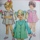 Simplicity 8619 child dress and jumper sewing pattern size 2 b21 UNCUT