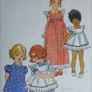 Simplicity 5534 sewing pattern dress and pinafore girl size 2 B21
