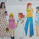 McCall 5000 sewing pattern girls dress or top size 4 5 6 with transfers