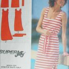 Simplicity 9522 sewing pattern pullover dress size 10 stretch knits