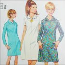 Simplicity 7289 sewing pattern A line dress size 14 bust 34 UNCUT