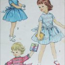 Simplicity 2631 childs dress vintage 1950s sewing pattern size 1