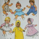 Simplcity 7208 sewing pattern large 17 to 18 inch doll wardrobe UNCUT